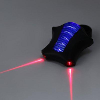 5 LED Bicycle Cycling Tail Lights with Laser Beam