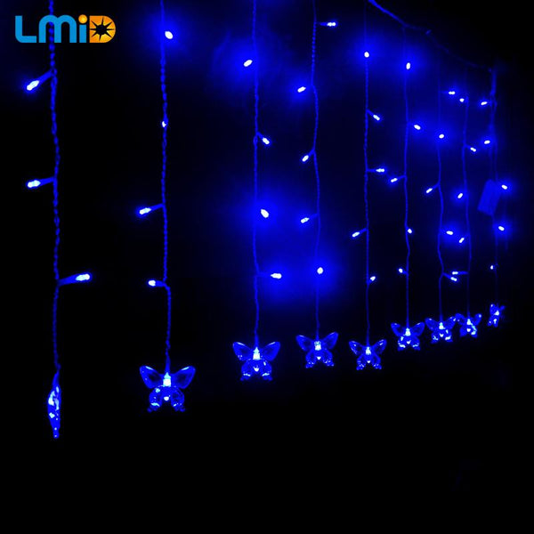 Connectable 4M LED Curtain Icicle String light For Decoration