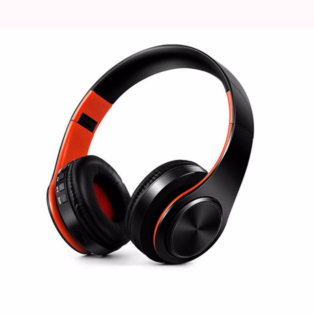 Foldable Stereo Bluetooth Headphone Black+Brown
