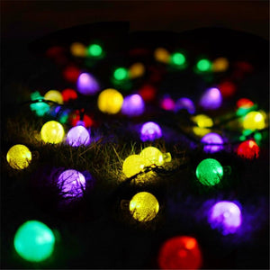 Solar Powered 30 LED Crystal Ball LED String Lamp For Decoration