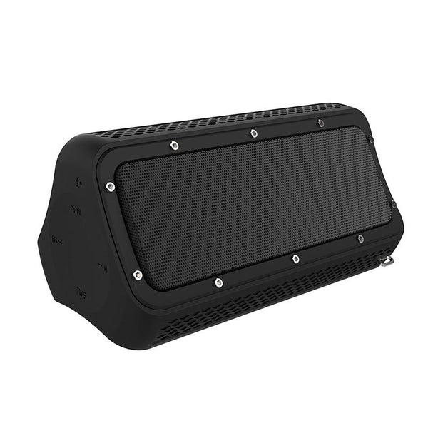 Water Resistant Portable Bluetooth Speaker with Mic Built-in Smartphone Charger, 20W Dual Driver Enhanced Bass