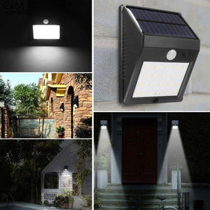20LED Waterproof Solar Powered Lamp Wall Light With Motion Sensor