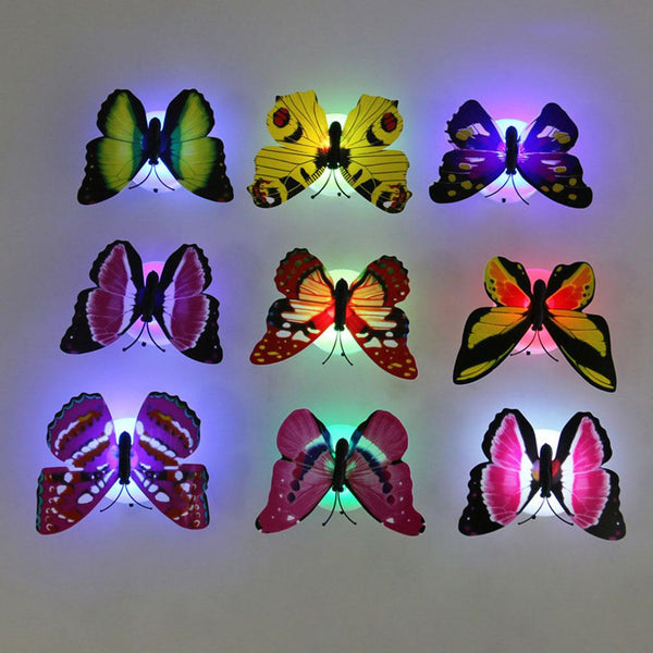 Lovely Color Changing Butterfly LED Night Light for Home Decor