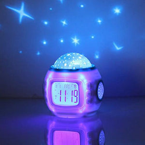 Coloful Starry Sky Room LED Projector  Night Lamp With Music/ Date Time/ Alarm Clock Multiple colors w
