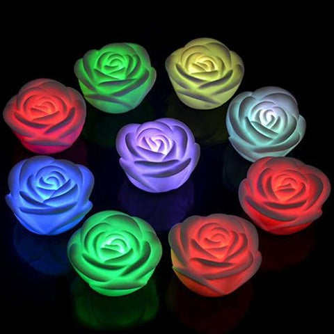 7 Colors Rose Flower LED Night Lamp
