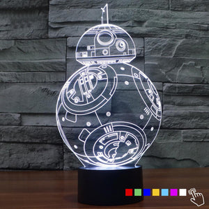 Color-Changing 3D Stars War USB LED Night