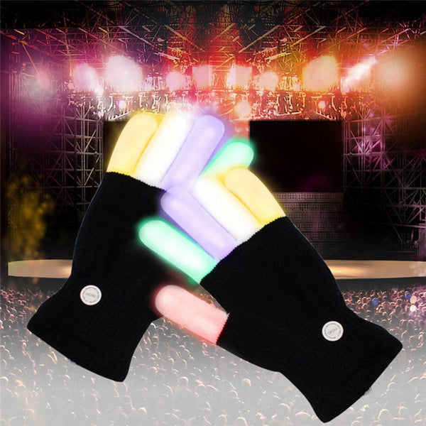 LED Glowing Gloves - Lights up Finger Tip For Party