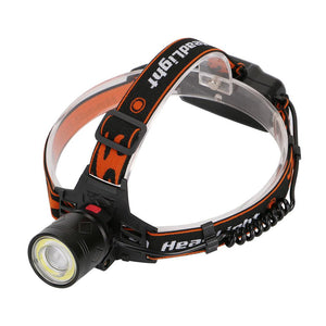 Zoomable LED Headlight Head Lamp (4 Modes  USB Charging)