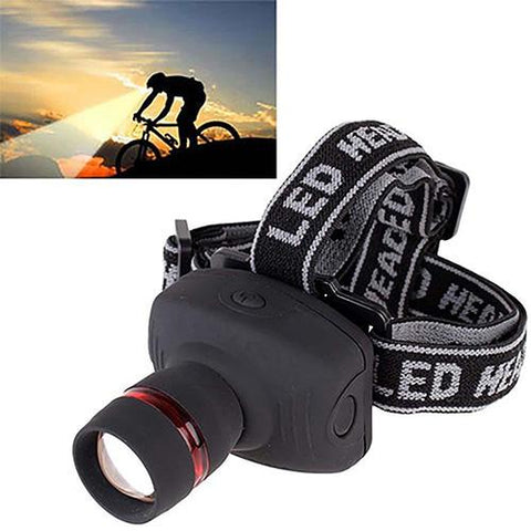 Outdoor 3W LED Zoomable Headlamp/ Flashlight