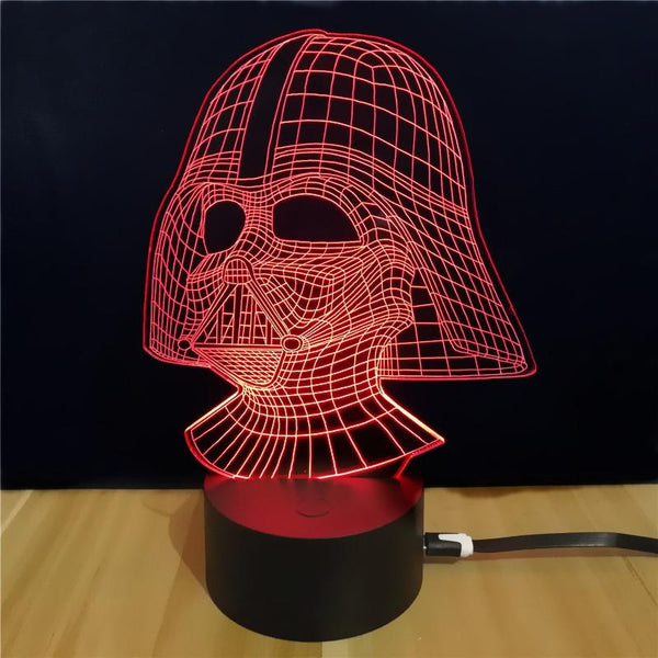 3D LED Darth Vader Night  Lamp-Night Lamp-COLORFUL-Khadiza Electricals