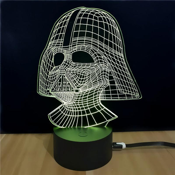 3D LED Darth Vader Night  Lamp-Night Lamp-[variant_title]-Khadiza Electricals