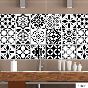 Black and White Distinct Wall Stickers For Decor as the picture w