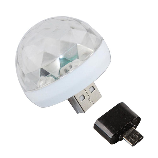 Color Changing Sound Activated USB Phone LED Ball Lamp for Party