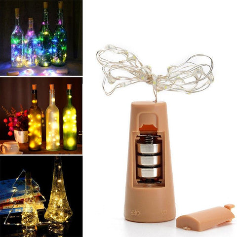 Wine Cork Bottle Fairy String Light (2M, 20 LED)-Decorative String Light-MULTI-Khadiza Electricals