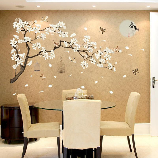 Tree Wall Stickers with Birds & Flowers for Home Decor (DIY)-Non Electric Home Decor-[variant_title]-Khadiza Electricals