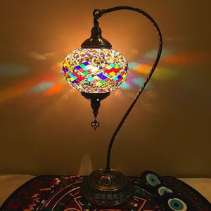 Vintage Mosaic Swan Lamp-Decorative Night Lamp-[variant_title]-Khadiza Electricals