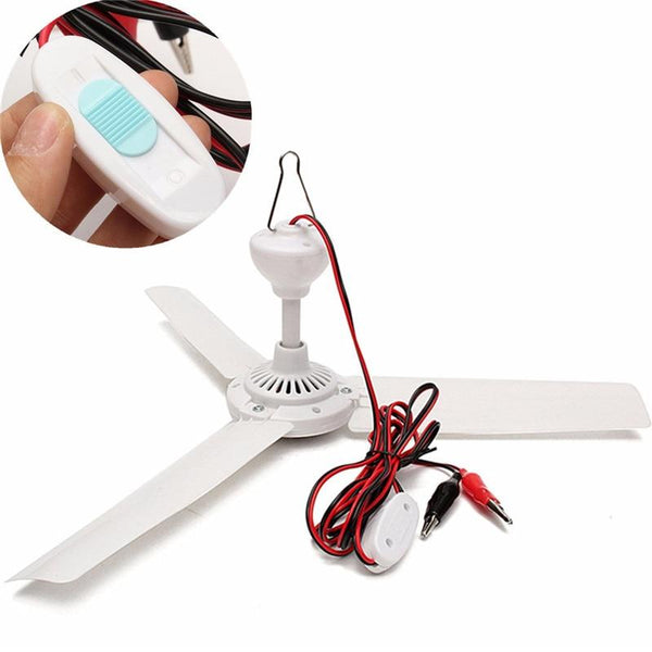 Brushless Converter Mini Ceiling Fan made of Plastic With Switch(1Pc, DC12V, 6W)-Decorative Fan-[variant_title]-Khadiza Electricals