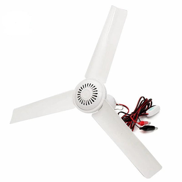 Brushless Converter Mini Ceiling Fan made of Plastic With Switch(1Pc, DC12V, 6W)-Decorative Fan-White / Spain-Khadiza Electricals