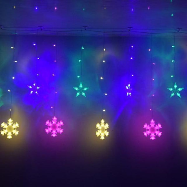 Star and snowflake Curtain Light-Decorative String Light-Multicolor-Khadiza Electricals