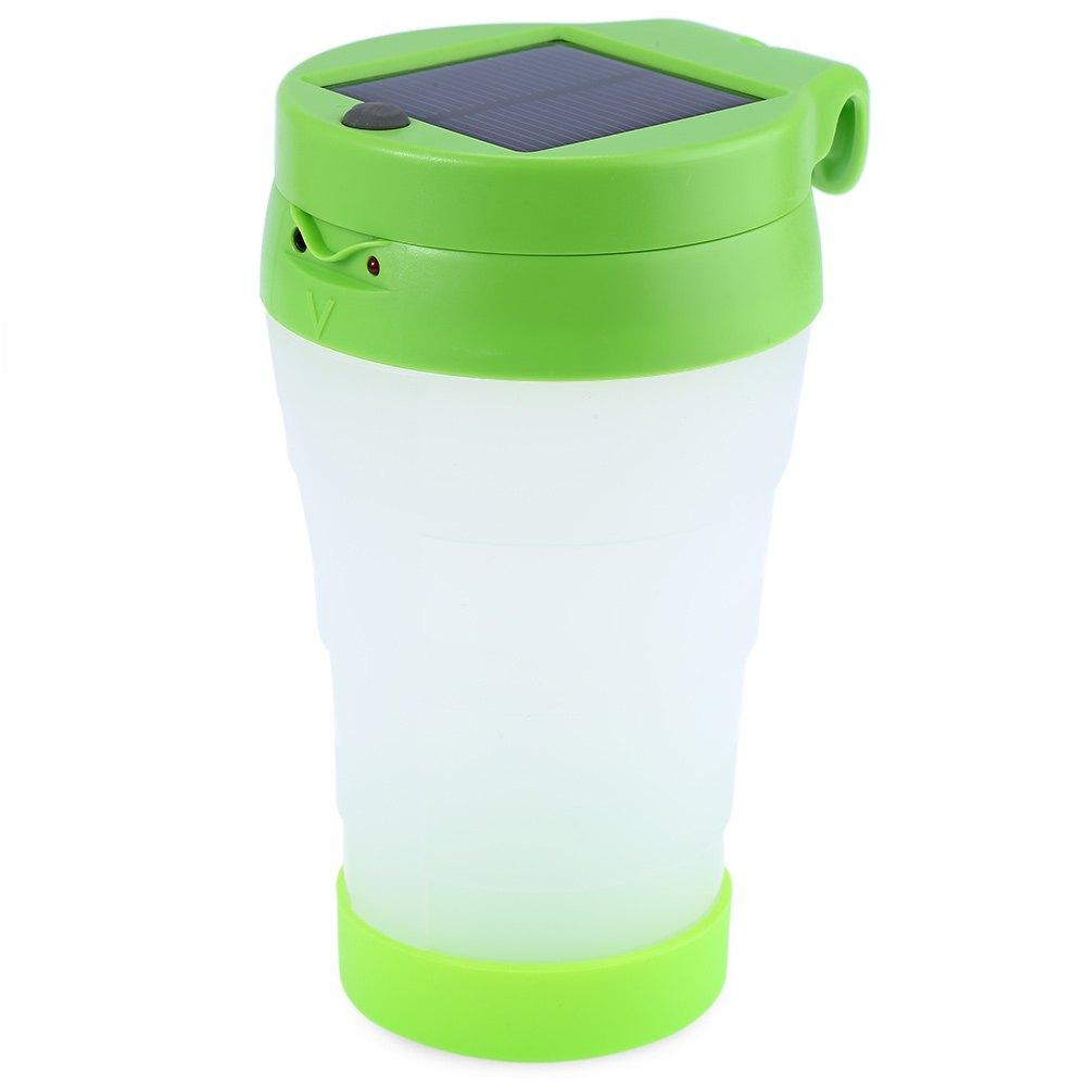 2 in 1 M5 Portable LED Solar Cup Light GREEN