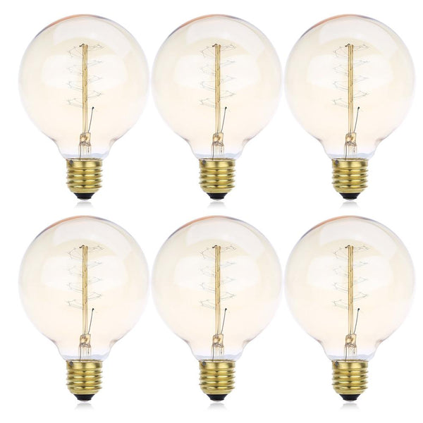 Lightme 6 pcs Retro Bulb Tungsten Energy-saving Lamp (G95 230V 40W E27 110 - 120LM32AK)