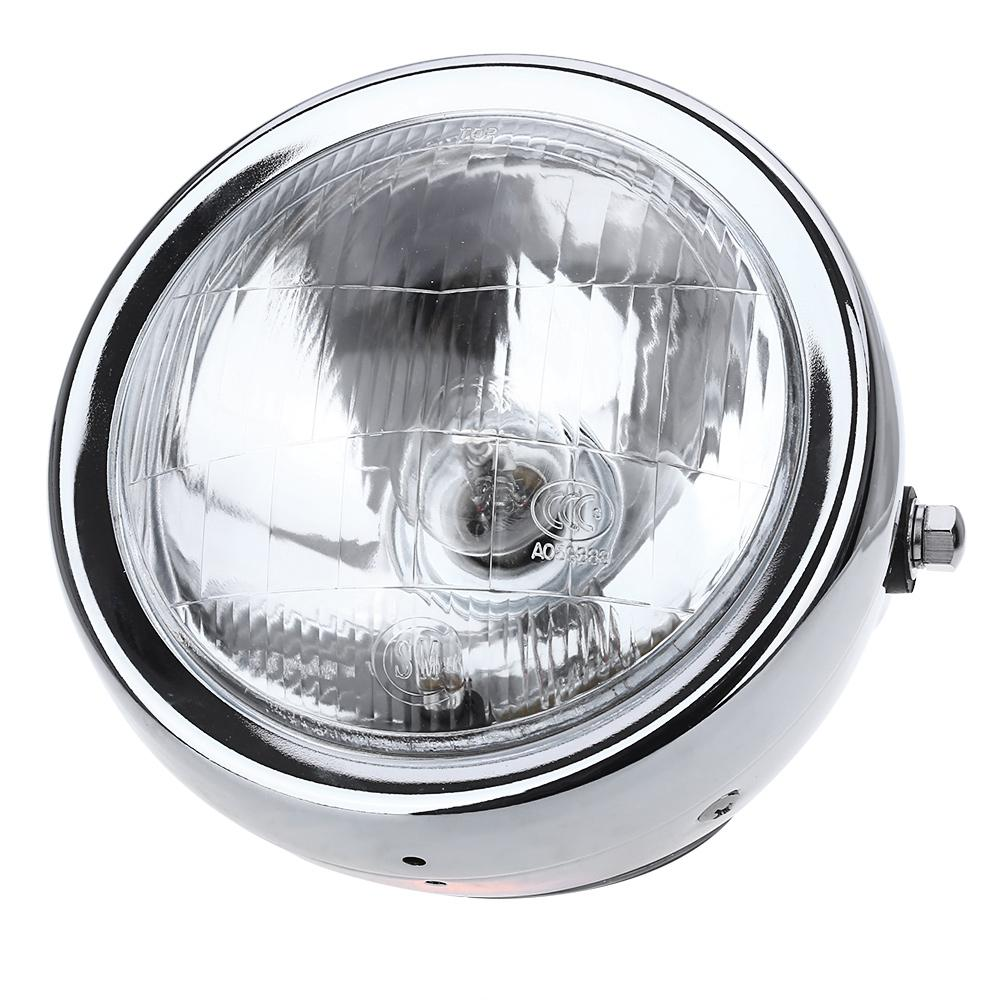 High Power Clear Lens Motorcycle Headlight With High Low Beam-Flashlight/ Torch-SILVER-Khadiza Electricals
