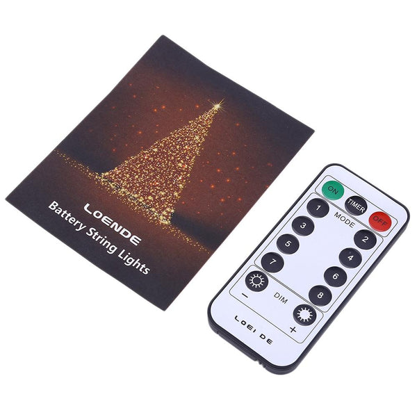 Battery Powered String Light with Remote Control (8 Modes 200 LEDs)-Decorative String Light-[variant_title]-Khadiza Electricals