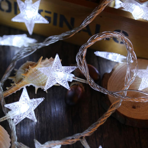 Star String Fairy Light for Decoration (8 Modes, 10M 100 LEDs 6W)-Decorative String Light-COOL WHITE LIGHT / EU PLUG-Khadiza Electricals