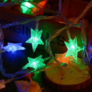 Star String Fairy Light for Decoration (8 Modes, 5M 50 LEDs 3W)-Decorative String Light-COLORFUL / US PLUG-Khadiza Electricals