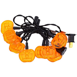 Halloween Pumpkin String Lamp for Decoration (10 LEDs 2M AC 110V)-Decorative String Light-YELLOW / US PLUG-Khadiza Electricals
