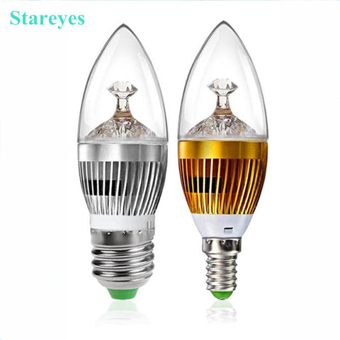 2 Pieces E14 E27 3W 4W 5W LED Candle Bulb For Pendant Lamp/ Chandelier