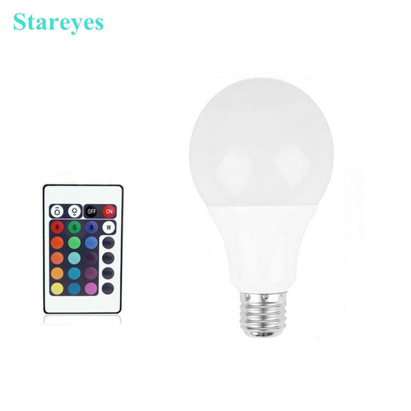 1 Piece LED RGB Colorful Ball Bulb With Remote Controller ( E27 3W 5W 7W)