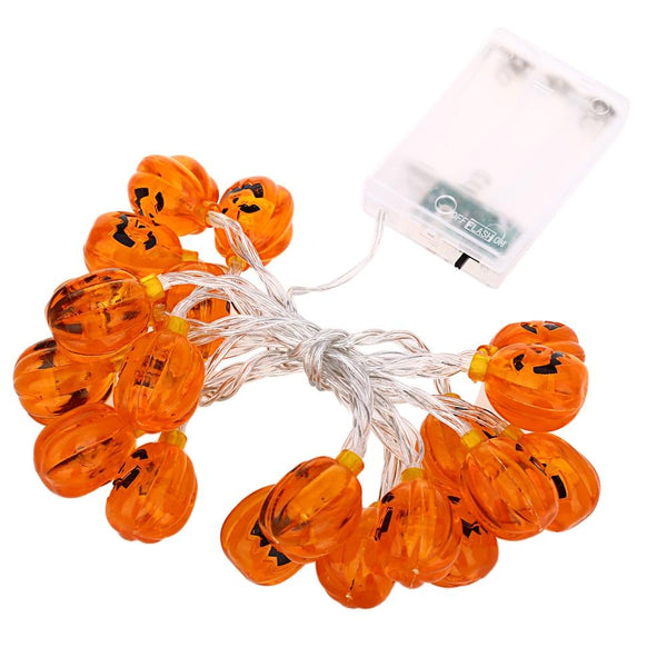Pumpkin Light String Chains for Decoration-Decorative String Light-ORANGE RED-Khadiza Electricals