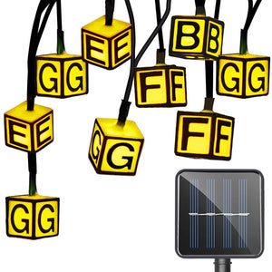 SS - 16 Waterproof Solar Powered Letter String Lamp For Decor