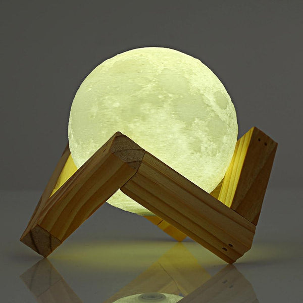 3D Print Moon Rechargeable Lamp with Touch Switch-Night Lamp-[variant_title]-Khadiza Electricals