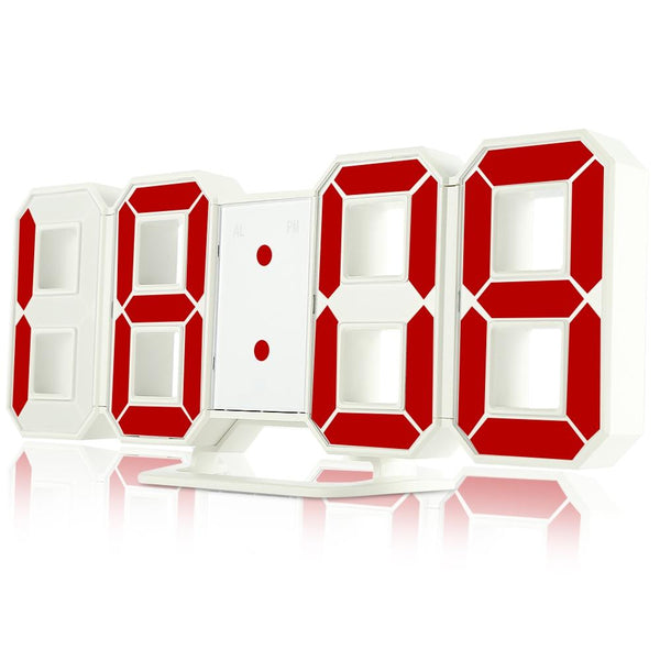 LED Digital Alarm Clocks with 24 / 12 Hours Display & Snooze Function-Other Electrical Products-RED-Khadiza Electricals