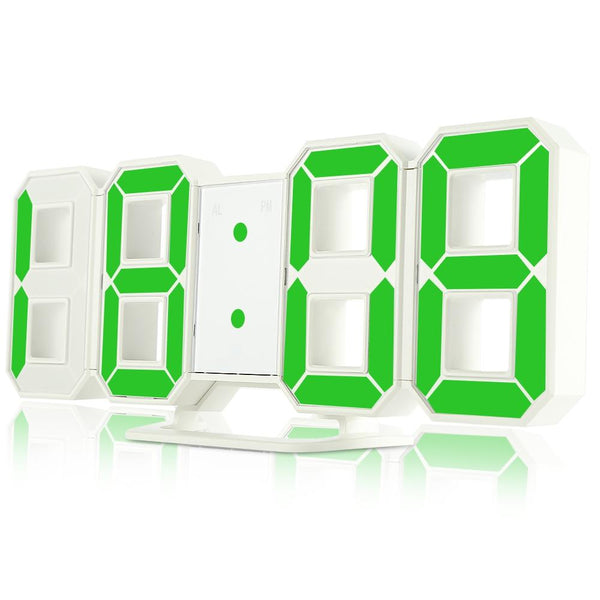 LED Digital Alarm Clocks with 24 / 12 Hours Display & Snooze Function-Other Electrical Products-GREEN-Khadiza Electricals