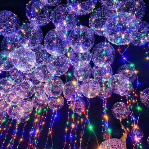 LED String Lights with Transparent  Balloon-Decorative String Light-TRANSPARENT-Khadiza Electricals