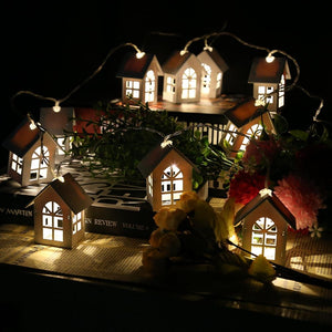 House Shaped LED String Light with 10LEDs-Decorative String Light-WARM WHITE LIGHT-Khadiza Electricals