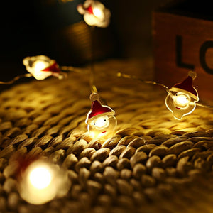 Old Man Shaped Cooper Wire String Light (2M 20 LEDs)-Decorative String Light-RED WITH WHITE-Khadiza Electricals