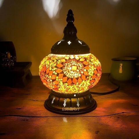 Hand-inlaid Glass Mosaic Table Lamps