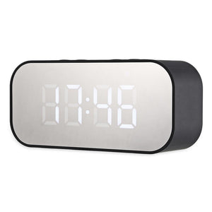 Wireless Bluetooth Speaker with LED Alarm Clock & Display-DJ Lights & Sound-BLACK-Khadiza Electricals