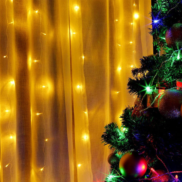 LED Window Curtain String Light for Decoration-Decorative String Light-[variant_title]-Khadiza Electricals