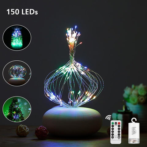Multicolored Starburst String Light for Decor ( 150 LEDs )-Decorative String Light-MULTI-Khadiza Electricals