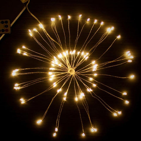 Fireworks Explosion Style String Light for Decoration (120-LED)-Decorative Strip Light-WARM WHITE-Khadiza Electricals