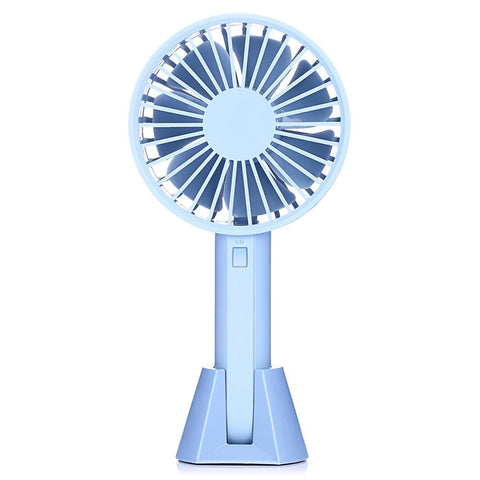 Stylish Portable Hand Held Fan with a Detachable U-shaped Base-Decorative Fan-BLUE-Khadiza Electricals