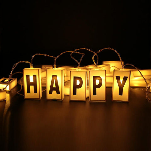 Letters on Light Box String Light (20 LEDs)-Decorative String Light-WARM WHITE-Khadiza Electricals
