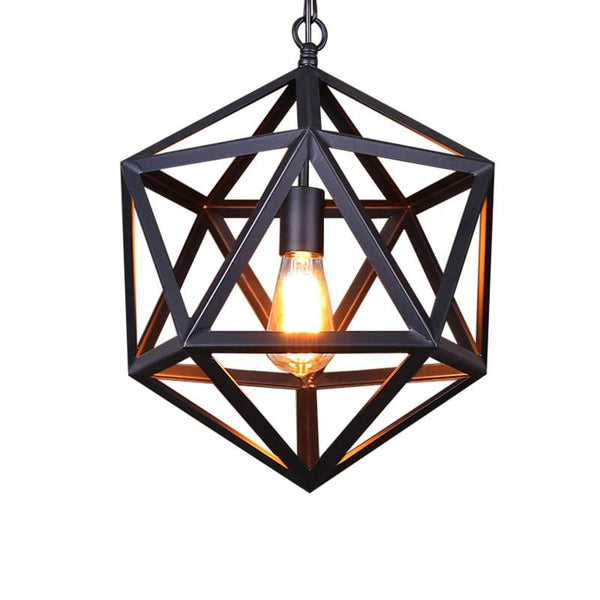 Black Iron Cage Pendant Lamp
