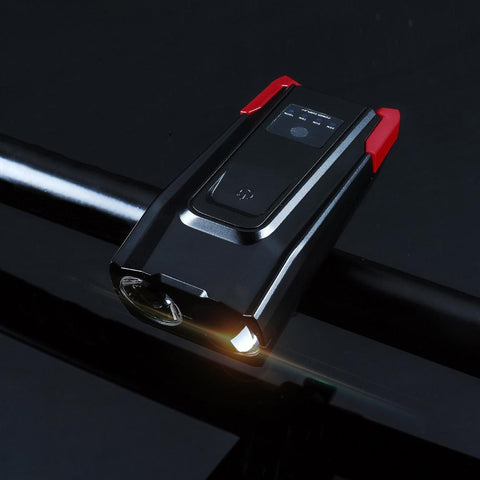 USB Rechargeable LED Brightness Bicycle Headlight with Horn Smart Sensor