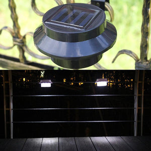 Fence Eaves Landscape Garden Solar Outdoor Induction Wall Lamp 2pcs